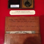 Artifacts from the 1st Rhode Island Cavalry, a Civil War unit in the Army of the Potomac.