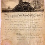 An 1804 ship's passport signed by President Thomas Jefferson and Secretary of State James Madison.