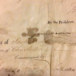 An 1804 ship's passport signed by Thomas Jefferson and James Madison.