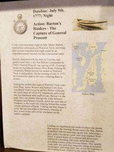 Museum description of General Prescott's sword.