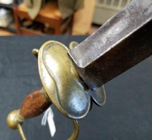 Purported to be British General Prescott's sword.