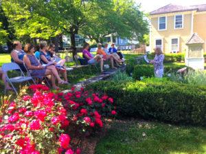 URI Master Gardeners at the Varnum House Museum.
