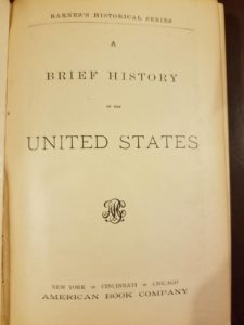 """""""Barner's Brief History of the United States"""" (1855)"""